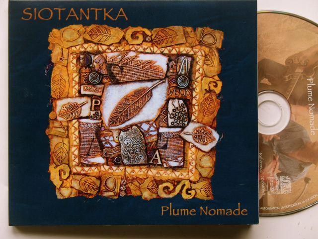 """pochette du cd de SIOTANTKA """"plume nomade"""""""