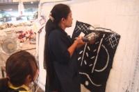 Tissage de la tapisserie (Metiss Age) 165x125, dans les ateliers Carpet Maste